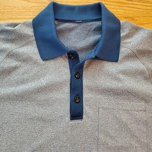 Mens Metal Vent Tech Polo contrast collar Blue S
